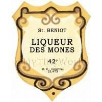 Benoit Liqueur Des Mones Miniature Dolls House Liqueur Label