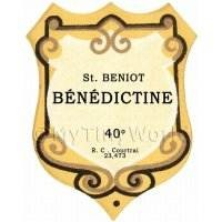 Benoit Benedictine Miniature Dolls House Liqueur Label