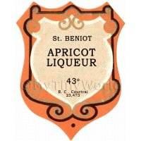 Benoit Apricot Liqueur Miniature Dolls House Liqueur Label