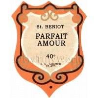 Benoit Parfait Amour Miniature Dolls House Liqueur Label