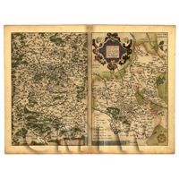 Dolls House Miniature Old Map Of East Francia From The Late 1500s