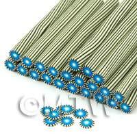 Handmade Blue Poker Chip Nail Art Cane (ENC02)