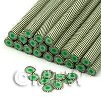 Handmade Green Poker Chip Nail Art Cane (ENC04)
