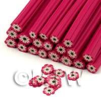 Handmade Dark Pink Flower Nail Art Cane (ENC06)
