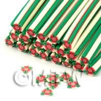 Handmade Flower And Leaves Nail Art Cane (ENC08)