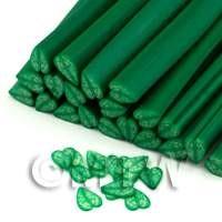 Green Heart Shape Leaf Nail Art Cane (ENC20)