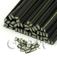 Black And White Butterfly Nail Art Cane (ENC22)