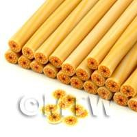 Handmade Orange Sunflower Nail Art Cane (ENC25)
