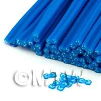 1/12th scale Blue And Transparent Bow Nail Art Cane (ENC32)