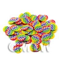 1/12th scale 50 Easter Egg Cane Slices - Nail Art (ENS14)