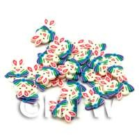 1/12th scale 50 Easter Rabbit Cane Slices - Nail Art (ENS16)