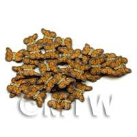 50 Handmade Brown Butterfly Cane Slices  - Nail Art (ENS18)