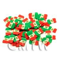 1/12th scale 50 Mexican Flag Cane Slices - Nail Art (ENS28)