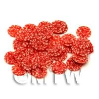 50 Pepperoni Cane Slices Style 2 - Nail Art (ENS37)