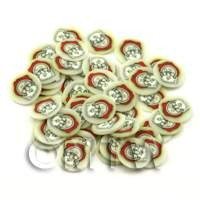 1/12th scale 50 Father Christmas Head Cane Slices - Nail Art (ENS39)