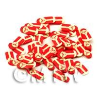 50 Father Christmas Russian Doll Style Cane Slices - Nail Art (ENS43)