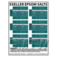 Dolls House Miniature sheet of 6 Exeller Epsom Salts Boxes