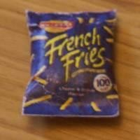 Dolls House Miniature Walkers Cheese And Onion French Fries