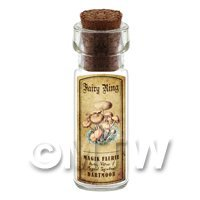 Dolls House Apothecary Fairy Ring Fungi Bottle And Colour Label