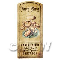 Dolls House Miniature Apothecary Fairy Ring Fungi Colour Label