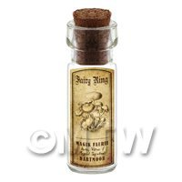 1/12th scale - Dolls House Miniature Apothecary Fairy Ring Fungi Bottle And Label