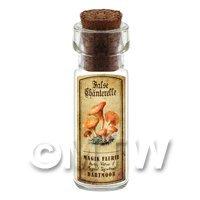 Dolls House Apothecary False Chanterelle Fungi Bottle And Colour Label