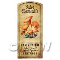 Dolls House Miniature Apothecary False Chanterelle Fungi Colour Label