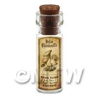 Dolls House Miniature Apothecary False Chanterelle Fungi Bottle And Label
