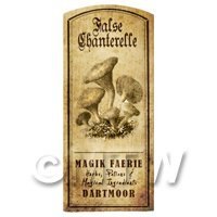 Dolls House Miniature Apothecary False Chanterelle Fungi Label