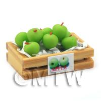 Dolls House Miniature Crate of Granny Smith Apple