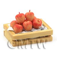 Dolls House Miniature Crate of Gala Apples