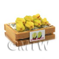 Dolls House Miniature Crate of  Starfruit