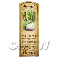 Dolls House Herbalist/Apothecary Fennel Herb Long Colour Label