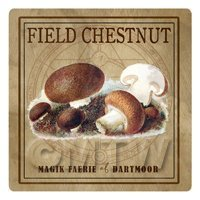 Dolls House Miniature Apothecary Field Chestnut Fungi Colour Box Label