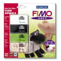 FIMO Soft Polymer Clay Kits For Kids Farm Animals