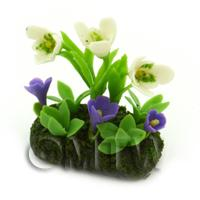 Dolls House Miniature Flower Bed Snowdrop