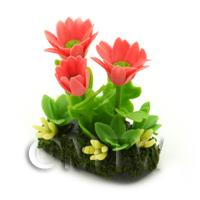 Dolls House Miniature Flower Bed Gerbera
