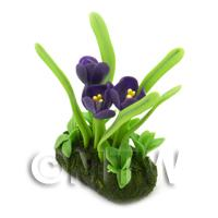 Dolls House Miniature Flower Bed Crocus