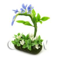 Dolls House Miniature Flower Bed Wisteria