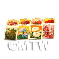 8 Mixed Dolls House Flower Seed Packets - Set 1