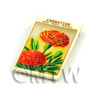 Dolls House Flower Seed Packet - Double Carnation