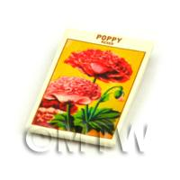 Dolls House Flower Seed Packet - Poppy