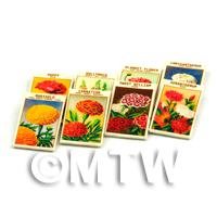 8 Mixed Dolls House Flower Seed Packets - Set 12