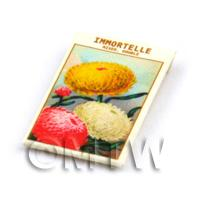 Dolls House Flower Seed Packet - Immortelle