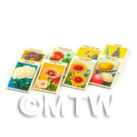 8 Mixed Dolls House Flower Seed Packets - Set 2