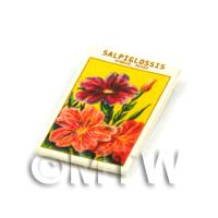 Dolls House Flower Seed Packet - Salipiglossis