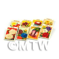 8 Mixed Dolls House Flower Seed Packets - Set 4