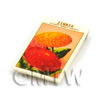Dolls House Flower Seed Packet - Elegant Zinnia