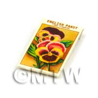 Dolls House Flower Seed Packet - English Pansy