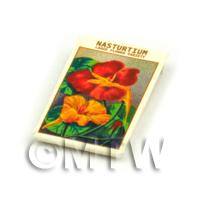 Dolls House Flower Seed Packet - Large Nasturtium